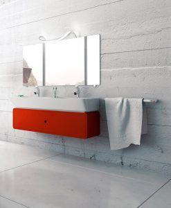 Aplique baño ondas SISLEY plata/cromo ambiente