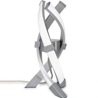 Lámpara de mesa ESPIRALES plata cromo