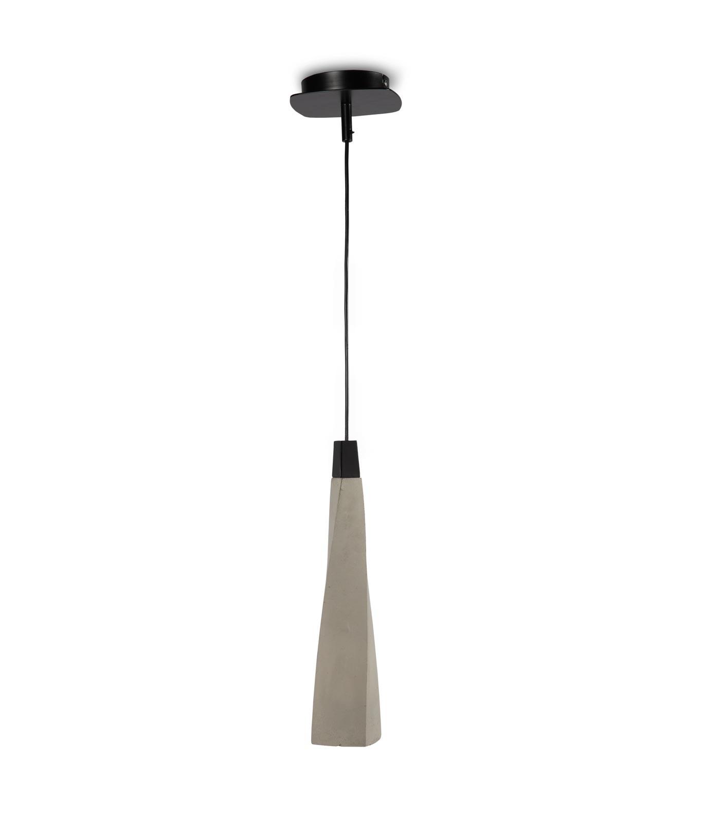 Lámpara colgante GHERY cemento 1 luz