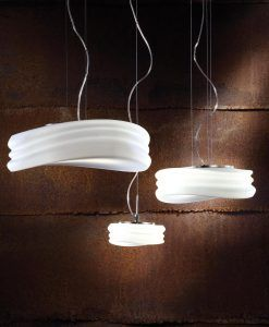 Lámparas colgantes MEDITERRANEO cromo/cristal opal ambiente