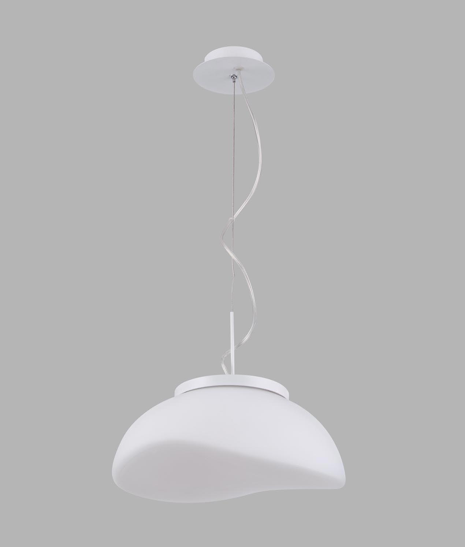 Lámpara colgante cristal cromo 1 luz OPAL