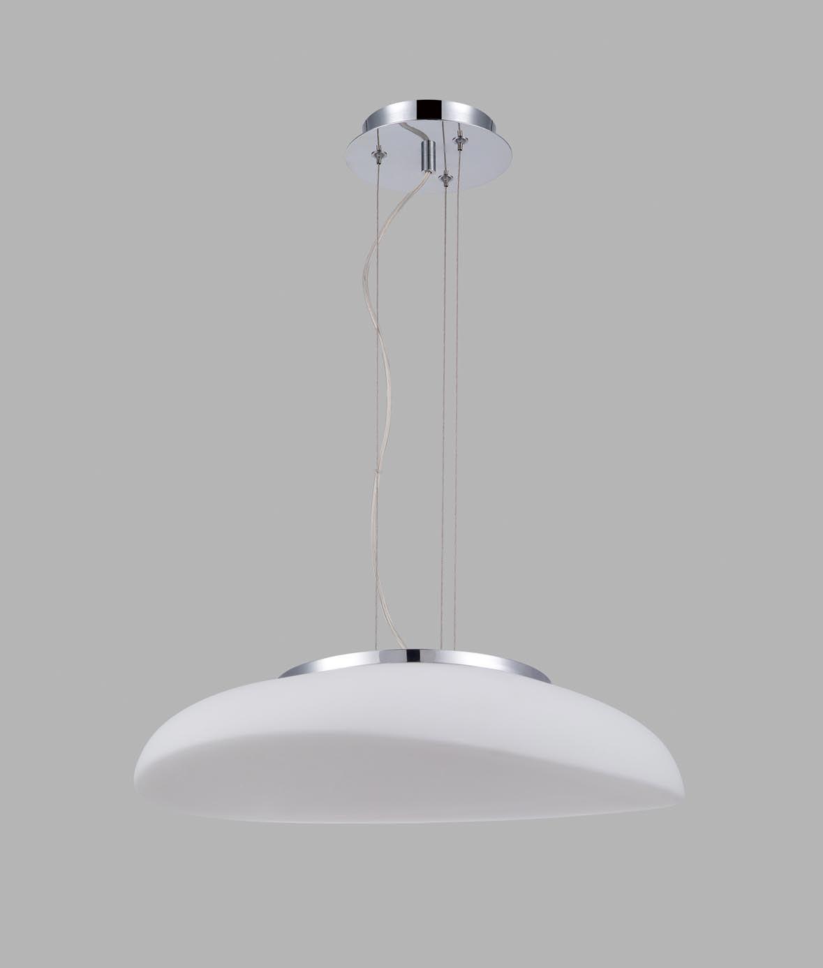 Lámpara colgante cristal cromo 4 luces OPAL