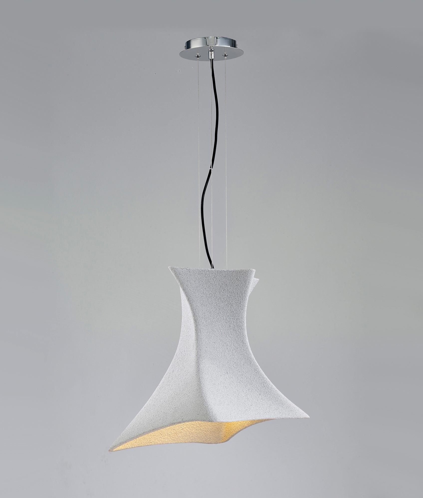Lámpara colgante TWIST cemento 2