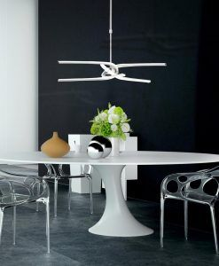 Lámpara KNOT LED plata/cromo ambiente