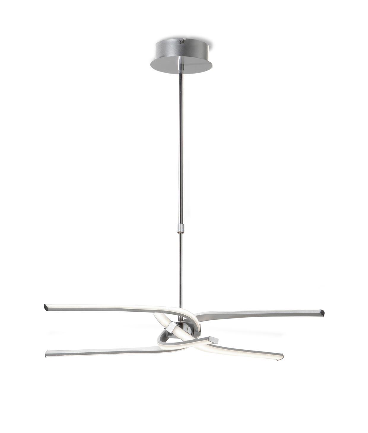 Lámpara KNOT LED plata/cromo