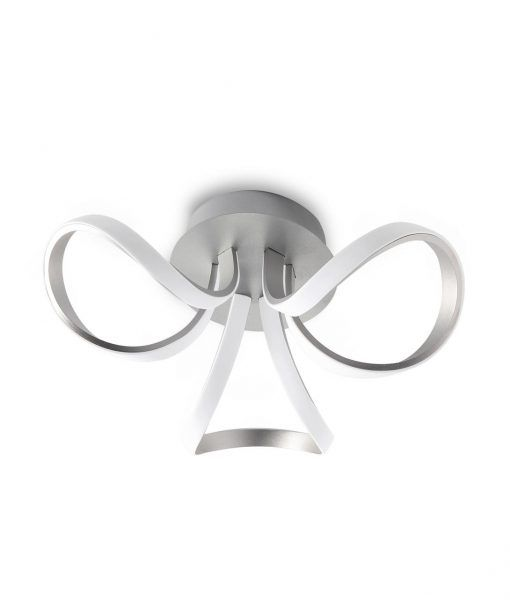 Plafón 3 lazos KNOT LED plata/cromo