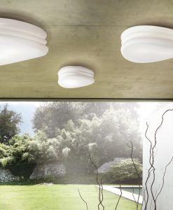 Plafones-Apliques MEDITERRANEO cromo/cristal opal ambiente