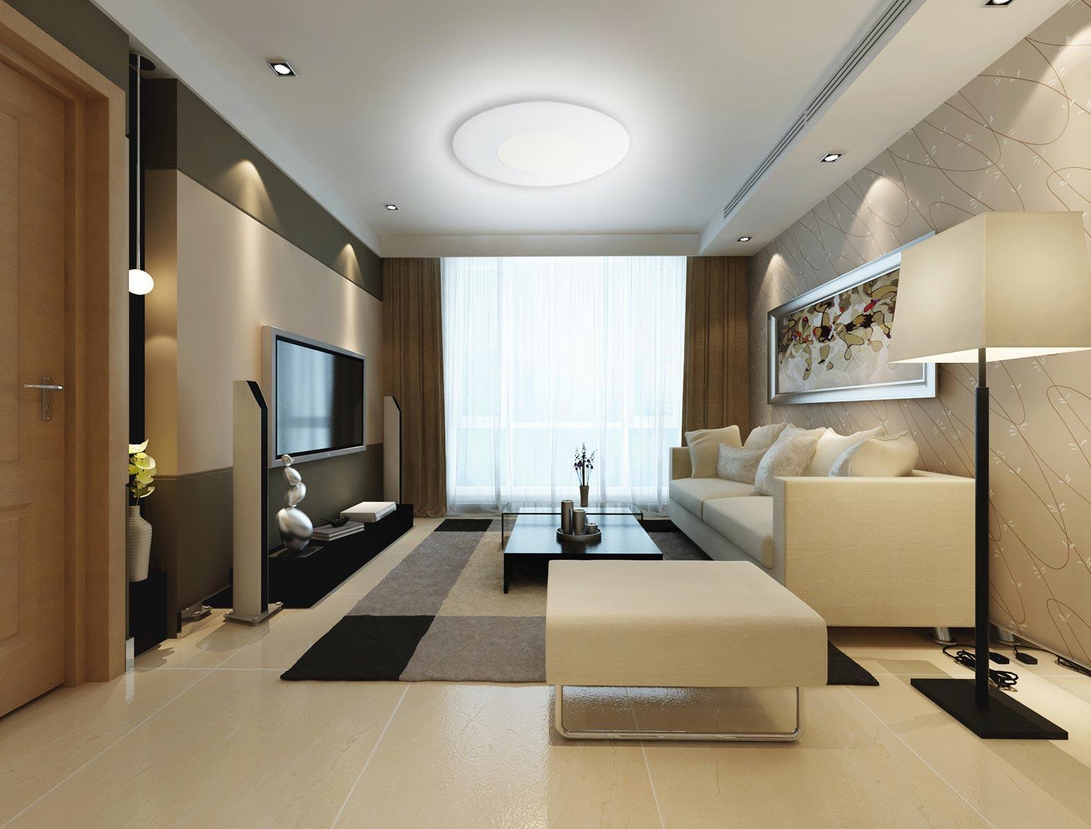 Plaf n led regulable zero 77 cm luz c lida fr a for Plafones de luz de pared