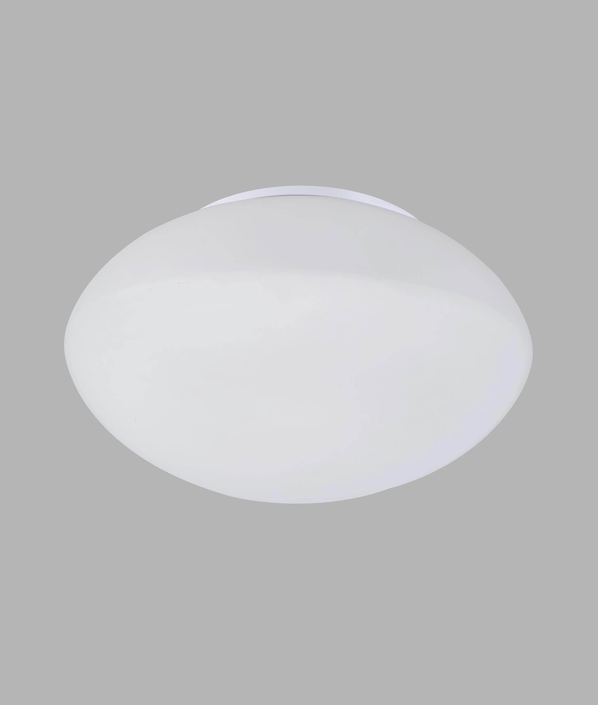 Plafón cristal cromo 1 luz OPAL