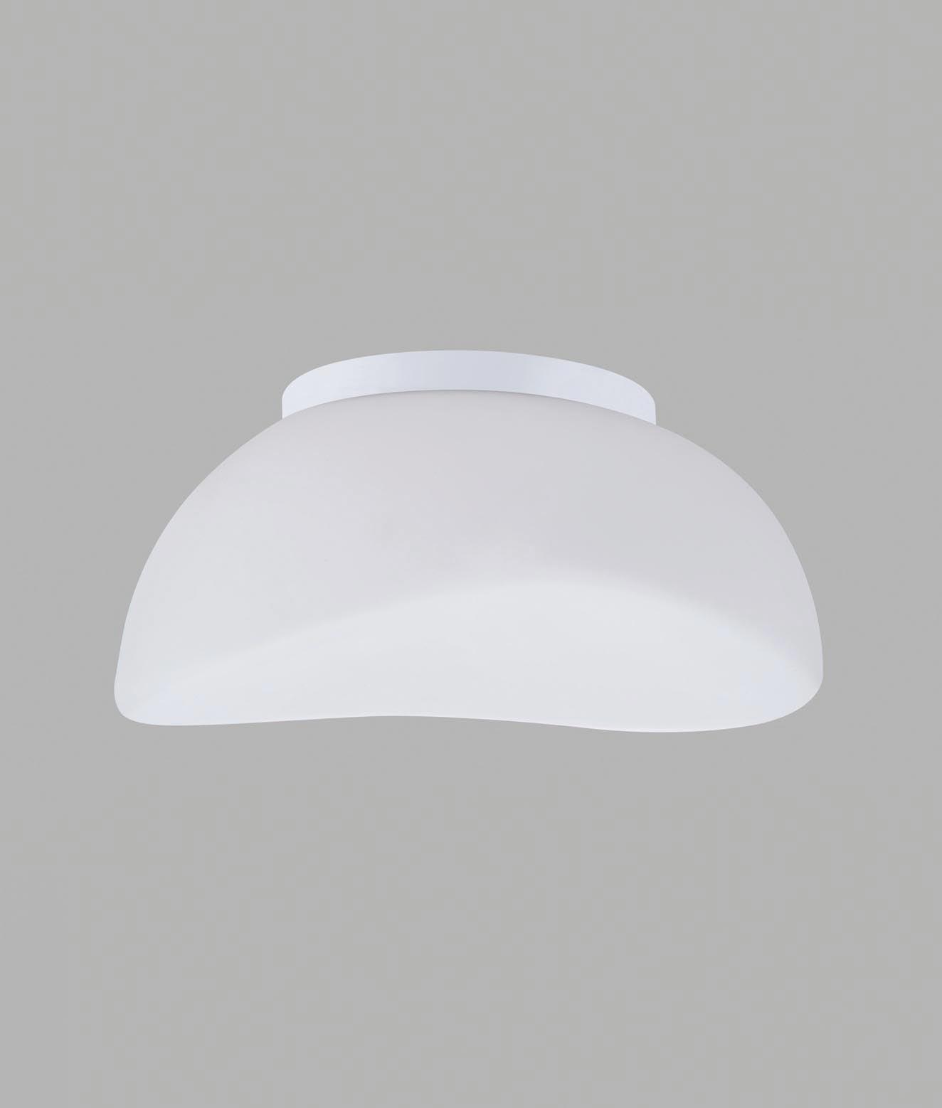 Plafón cristal cromo 3 luces OPAL
