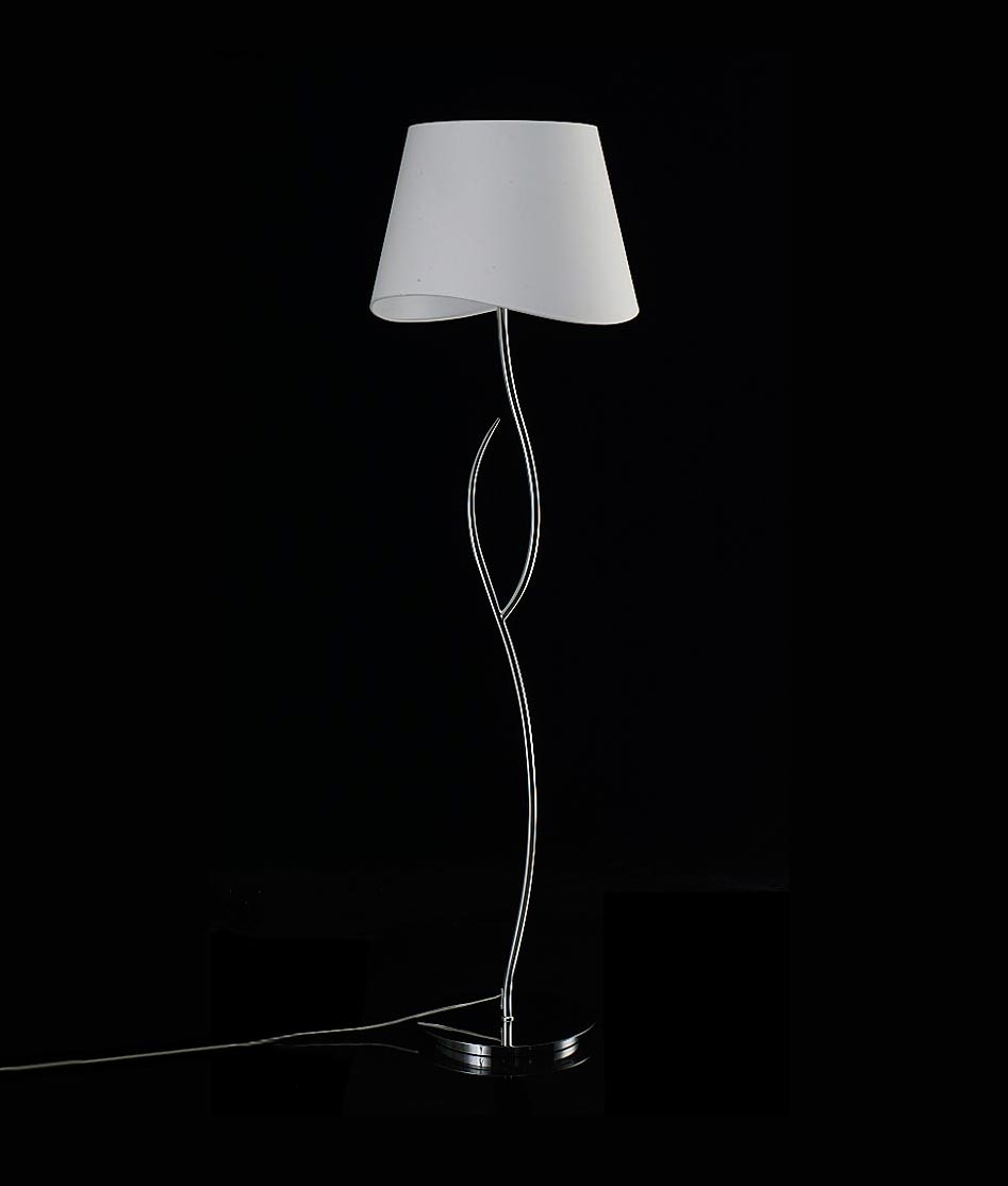 Lámpara de pie cromo blanco NINETTE
