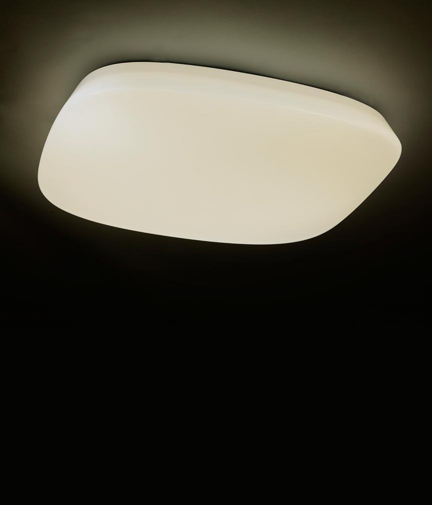 Plafón LED regulable QUATRO 60 cm luz cálida/fría 3