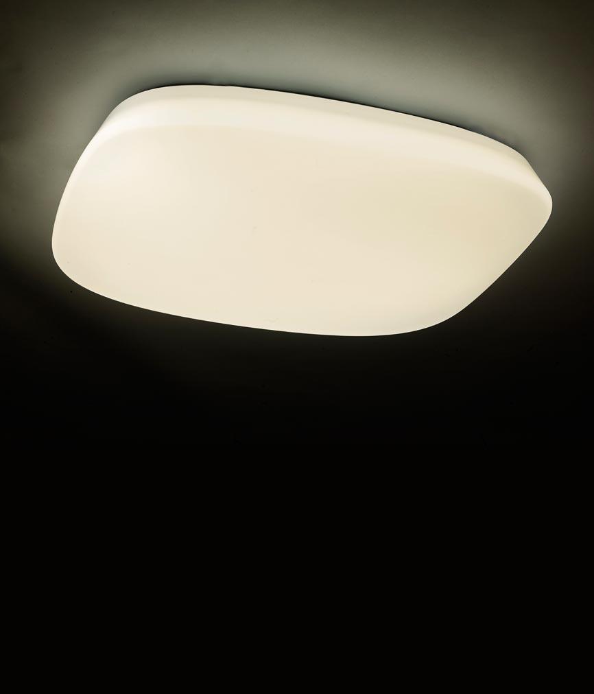 Plafón LED regulable QUATRO 60 cm luz cálida/fría 4