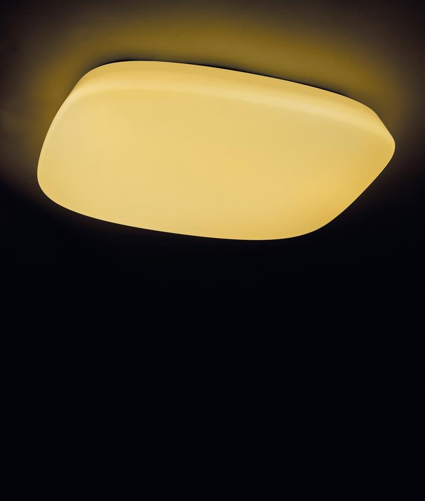 Plafón LED regulable QUATRO 60 cm luz cálida/fría 5