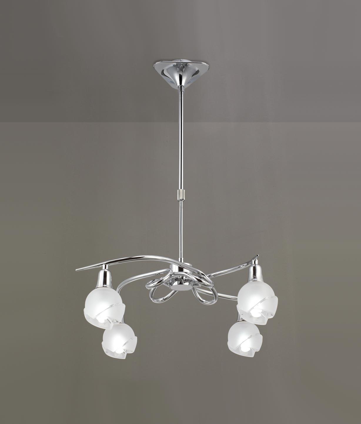 Lámpara cromo 4 luces BALI