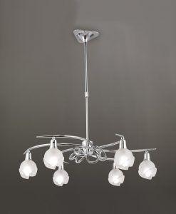 Lámpara cromo 6 luces BALI