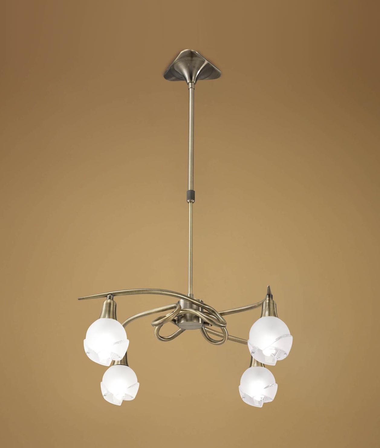 Lámpara cuero 4 luces BALI