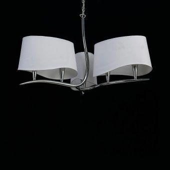 Lámpara cromo blanco NINETTE 6 luces