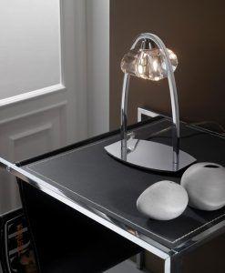 Sobremesa cromo 1 luz ALFA ambiente