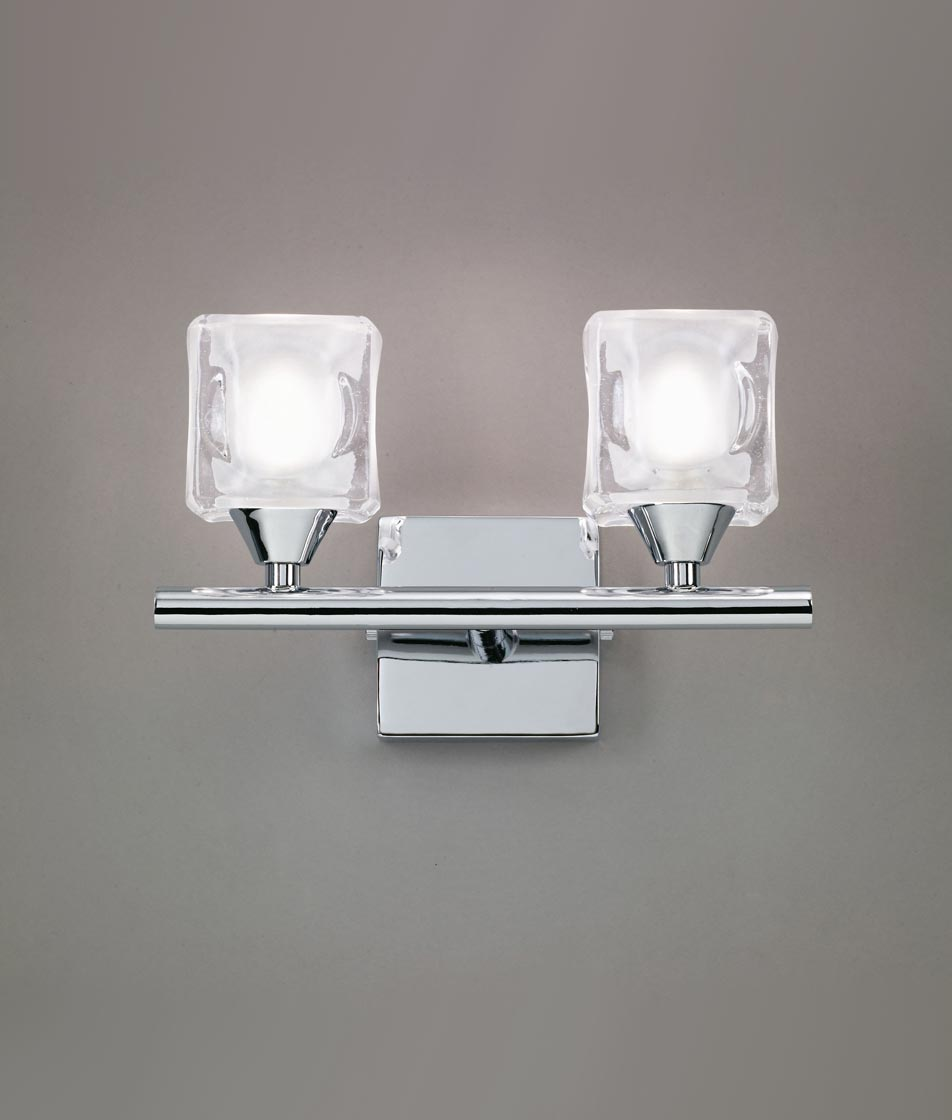 Aplique grande cromo CUADRAX 2 luces