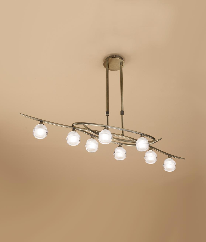 Lámpara cuero grande LOOP 8 luces