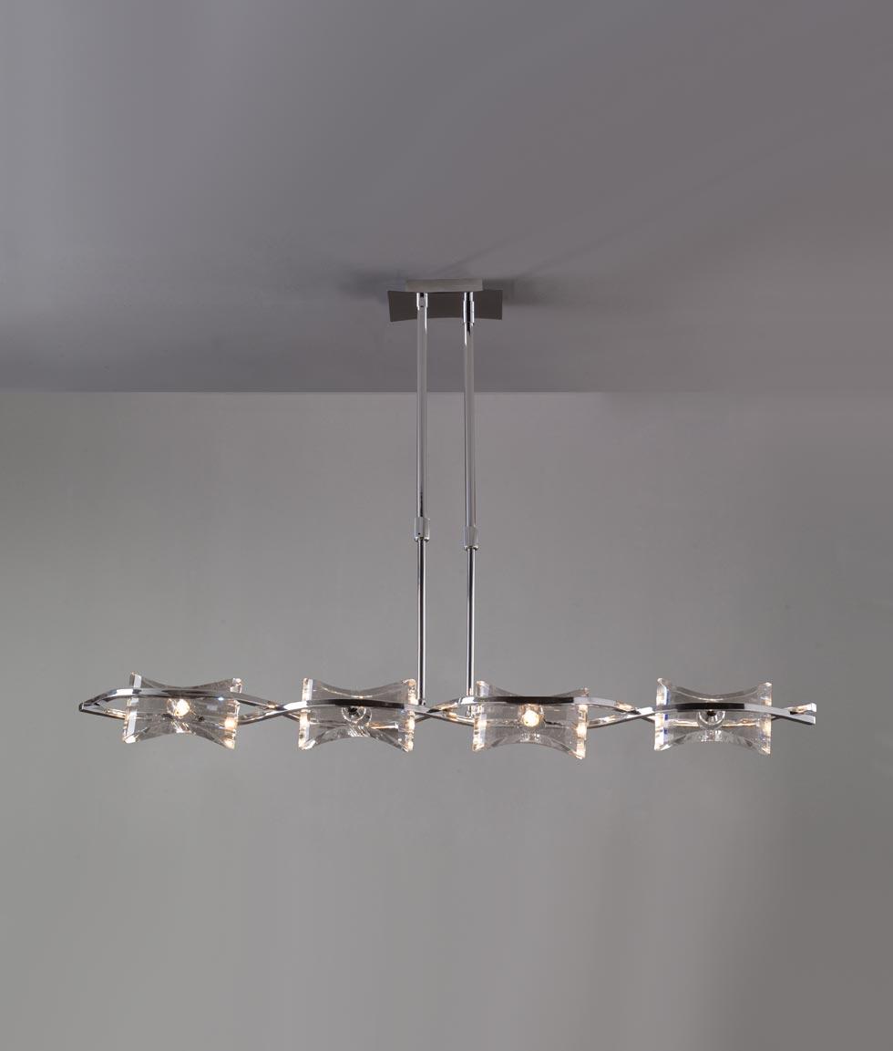 Lámpara lineal cromo KROM 4 luces