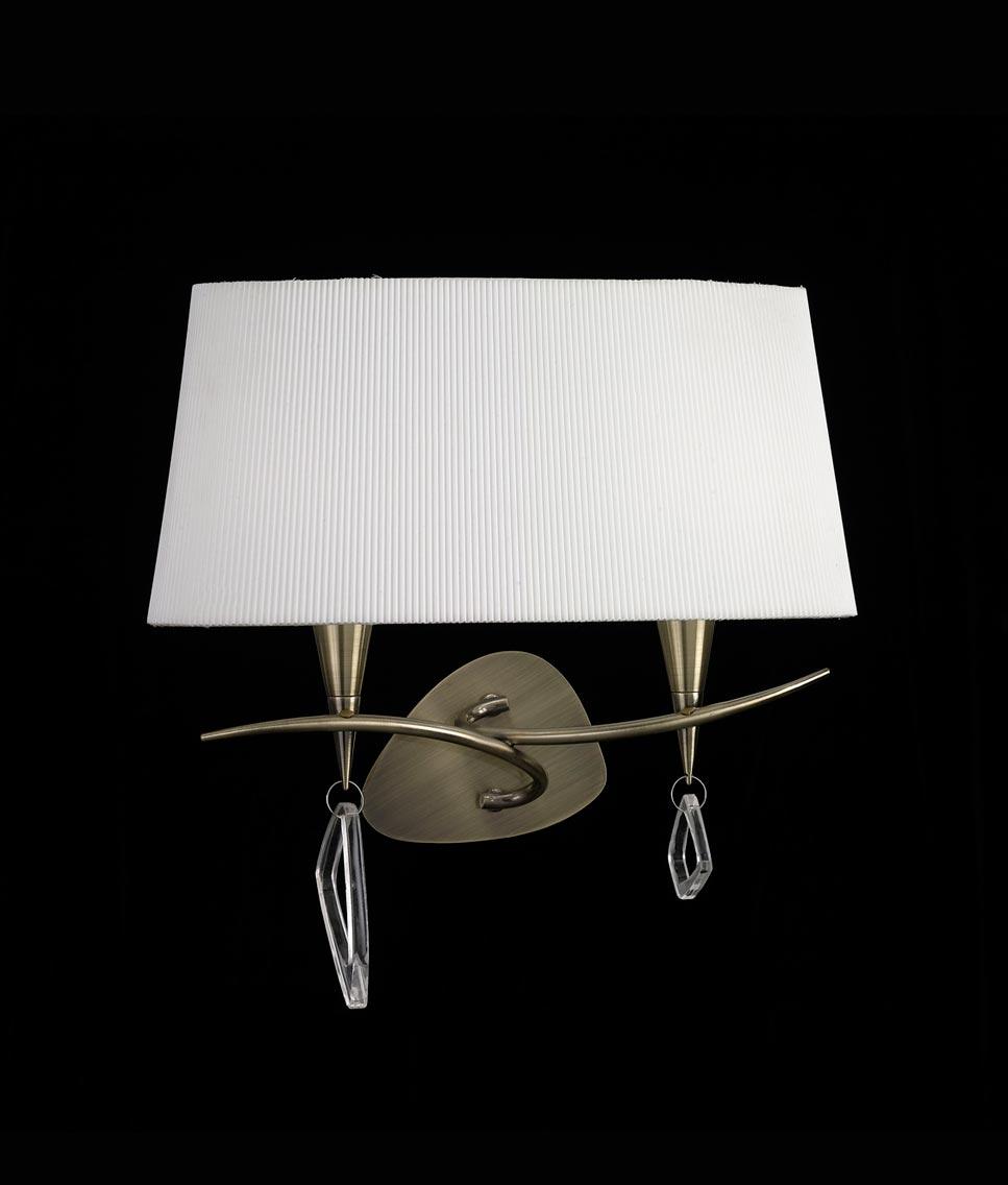 Aplique grande cuero mara 2 luces la casa de la l mpara - Casa de las lamparas ...