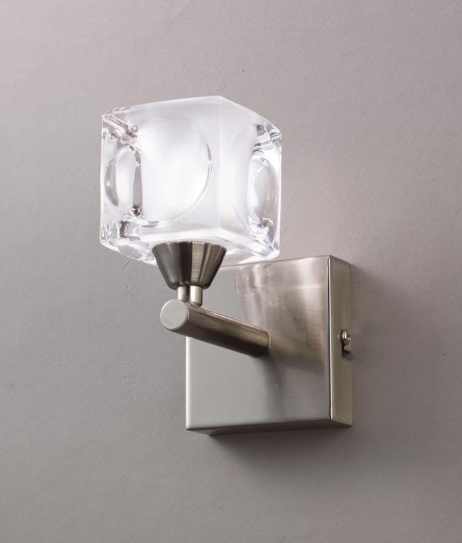 Aplique pequeño níquel CUADRAX 1 luz