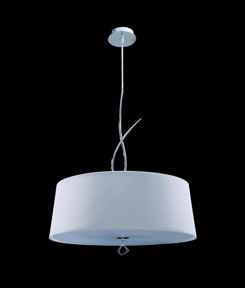 Lámpara colgante cromo MARA 4 luces