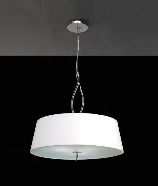 Colgante cromo blanco NINETTE 4 luces