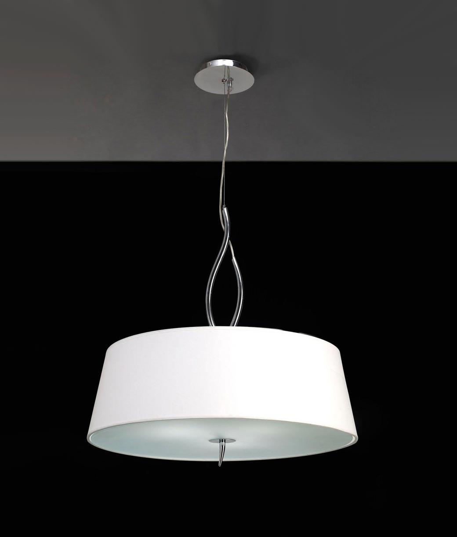 Colgante cromo blanco ninette 4 luces la casa de la l mpara - Casa de las lamparas ...