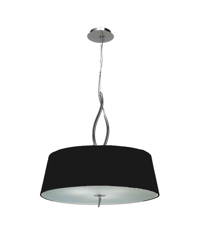 Colgante cromo negro NINETTE 4 luces
