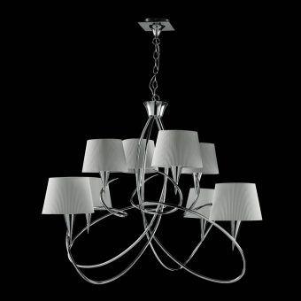 Lámpara grande cromo MARA 8 luces