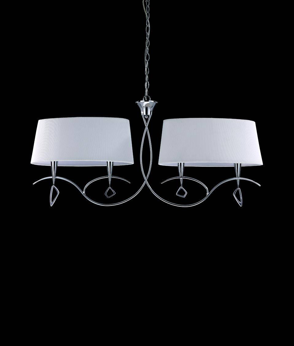 Lámpara lineal cromo MARA 4 luces