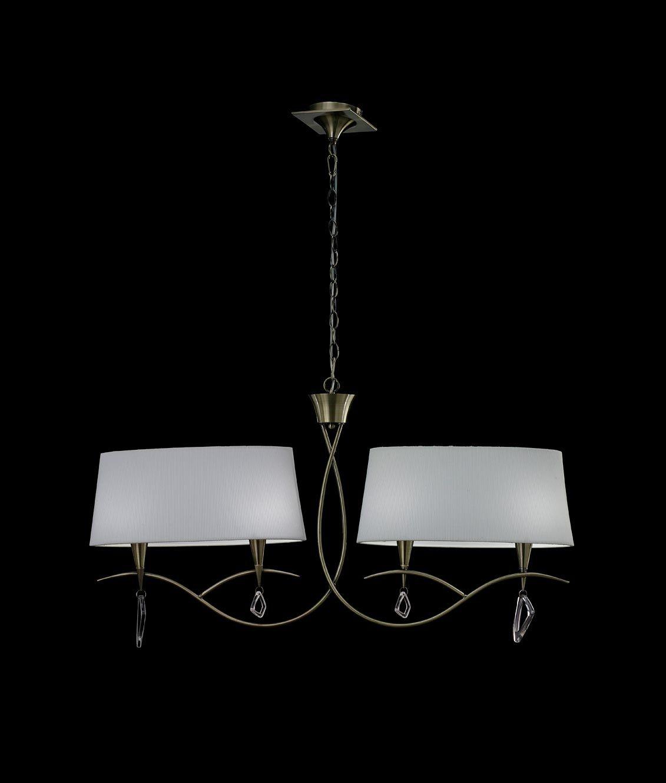 Lámpara lineal cuero MARA 4 luces
