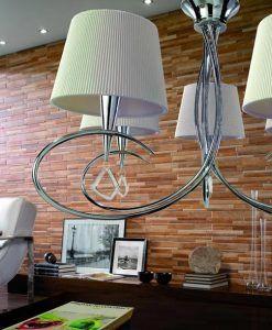 Lámpara mediana cromo MARA 5 luces ambiente