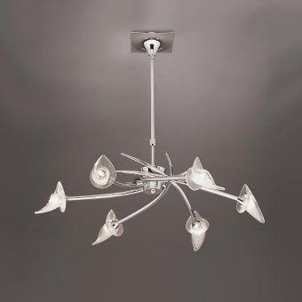 Lámpara pequeña cromo FLAVIA 6 luces
