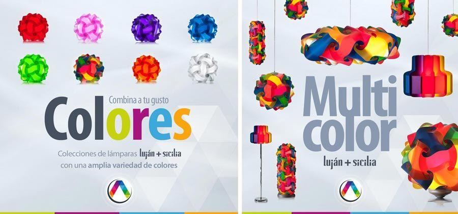 Lámparas de techo de colores y multicolor en La Casa de la Lámpara