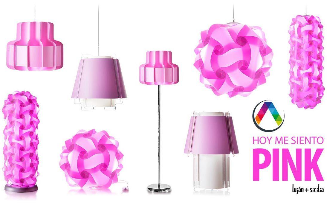 """Lámparas de techo rosa """"PINK"""" en La Casa de la Lámpara"""
