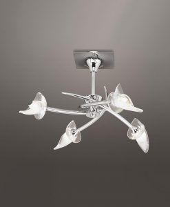 Plafón cromo FLAVIA 4 luces