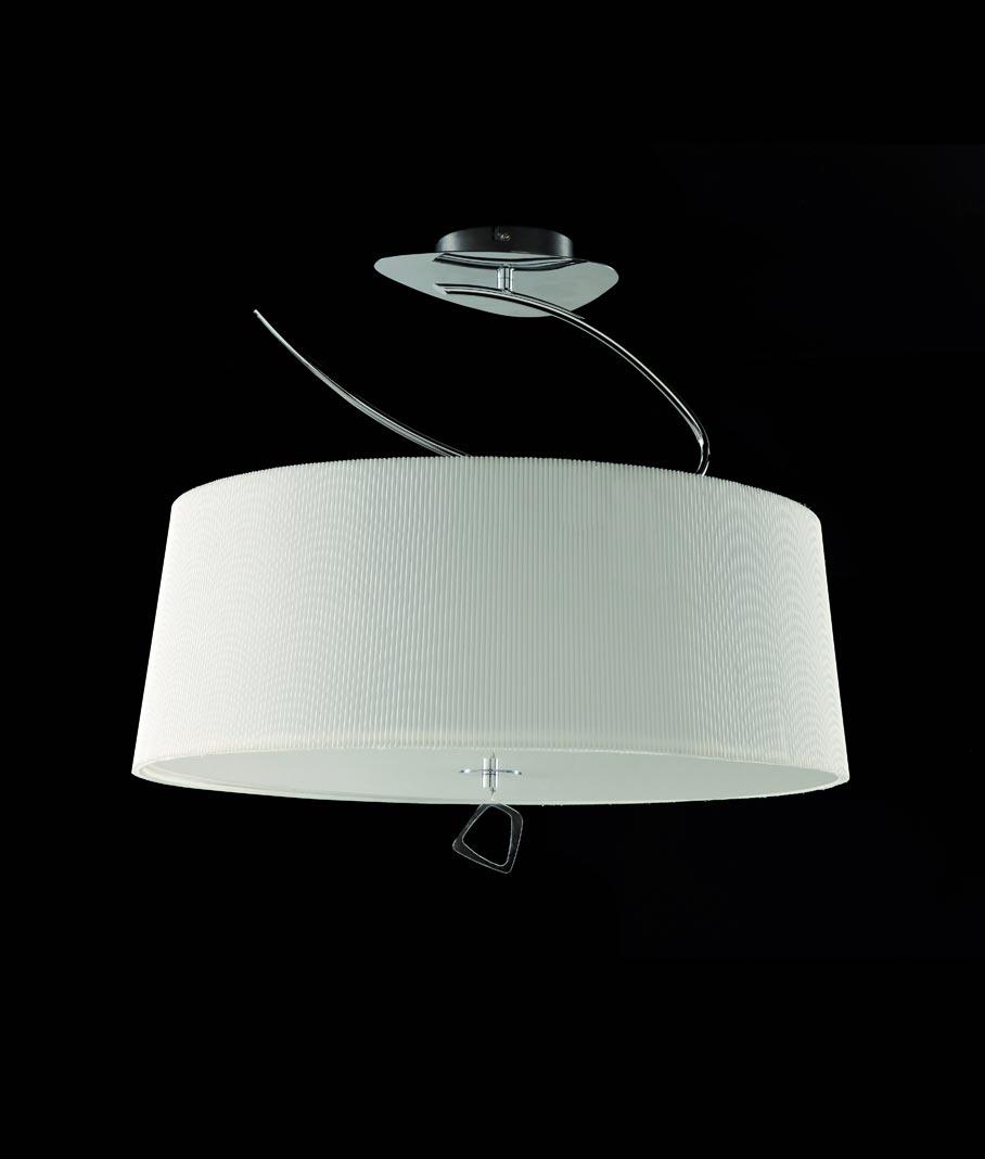Semi plafón cromo MARA 4 luces