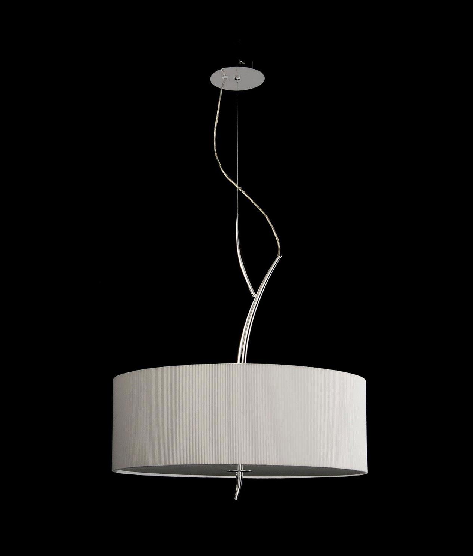 Colgante cromo blanco eve la casa de la l mpara - Casa de las lamparas ...