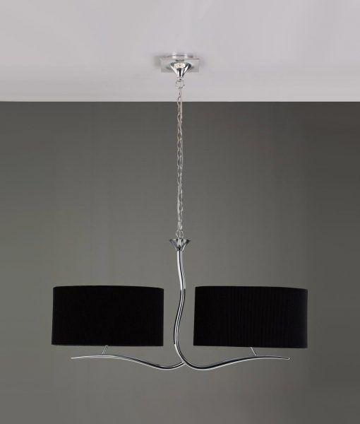 Lámpara cromo negro 4 luces EVE
