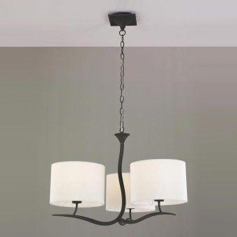 Lámpara gris blanco 3 luces EVE