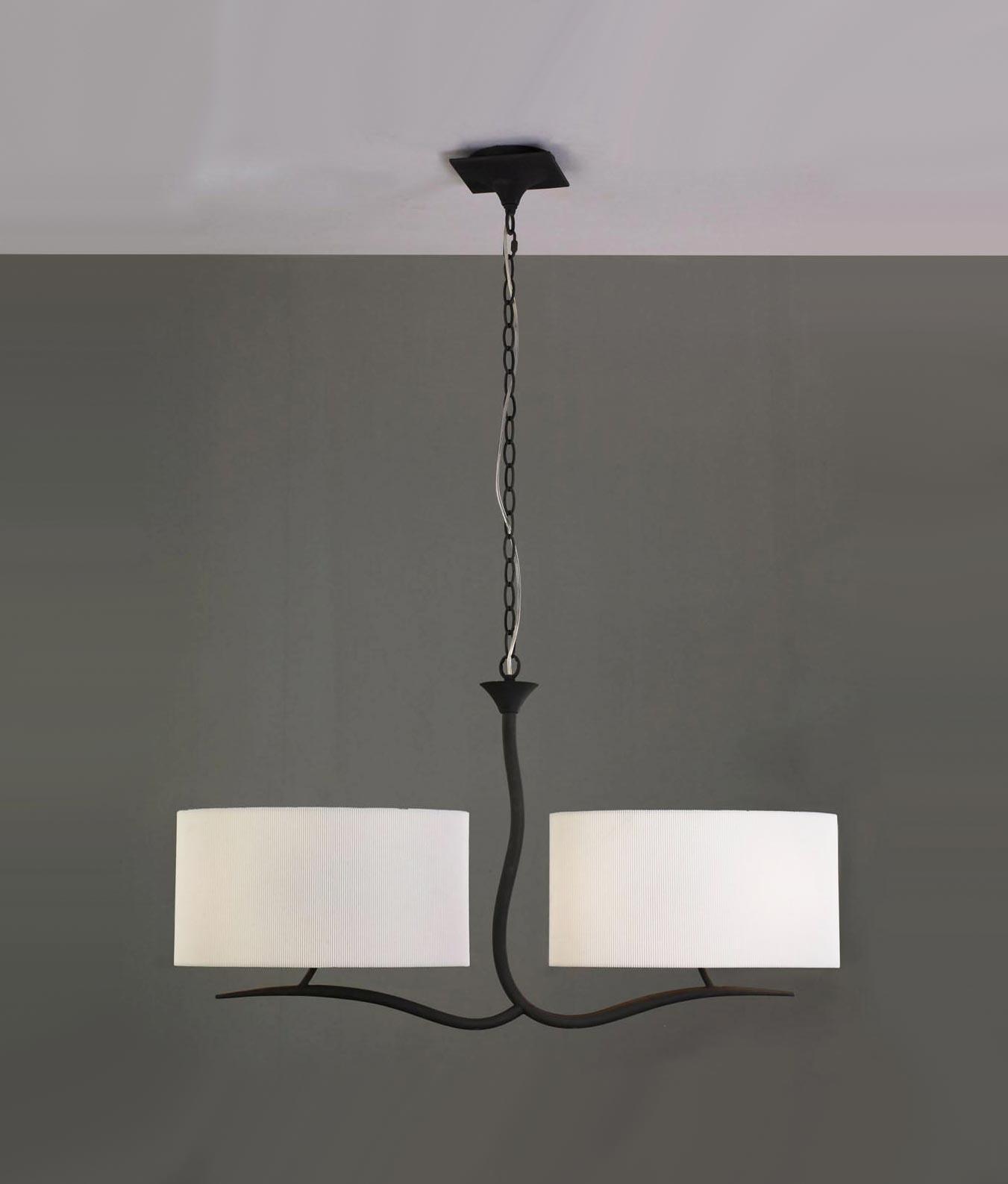 Lámpara gris blanco 4 luces EVE