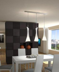 Lámpara colgante lineal ZACK 3 luces ambiente