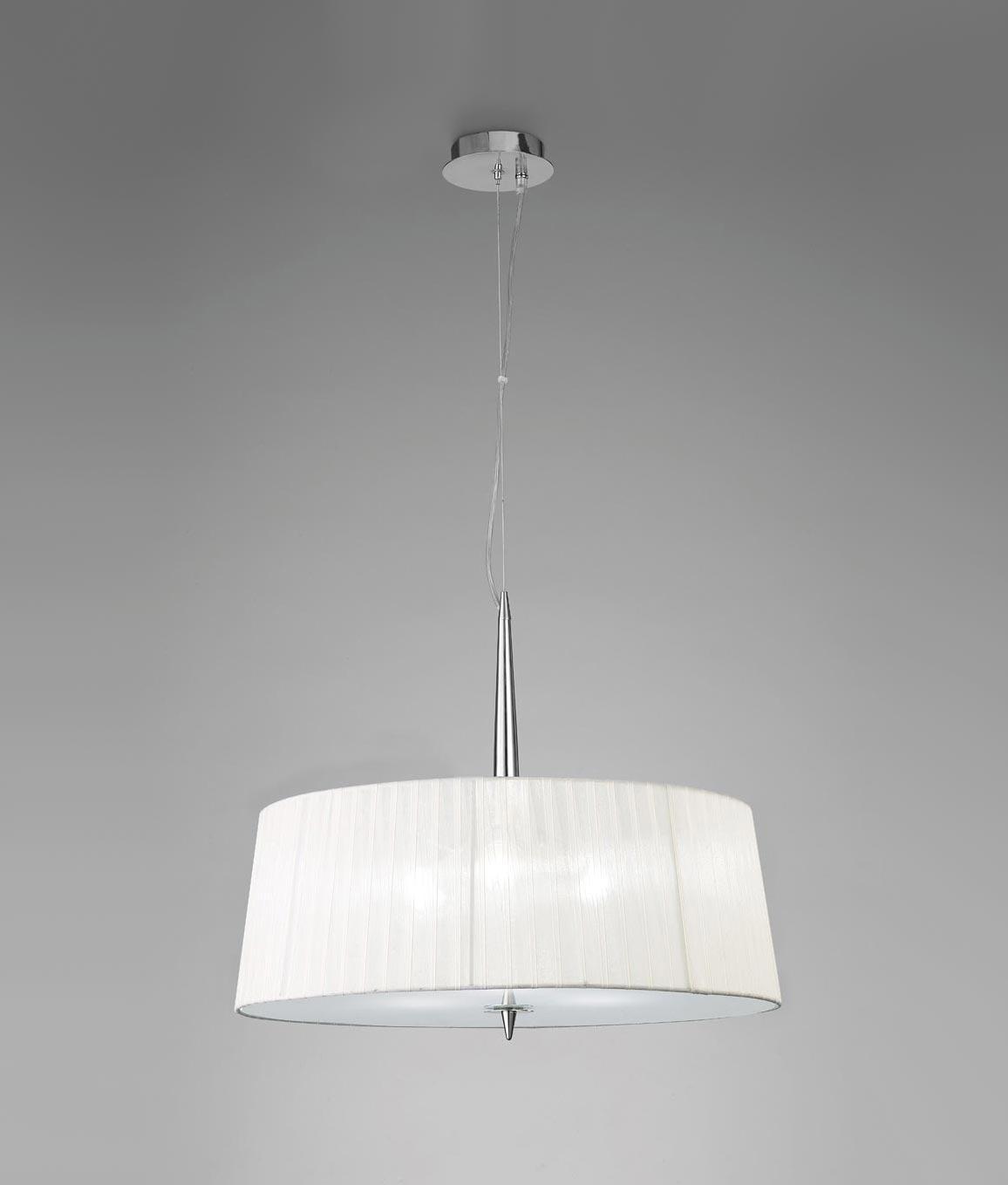 Colgante cromo 3 luces LOEWE