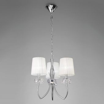 Lámpara cromo 3 luces LOEWE
