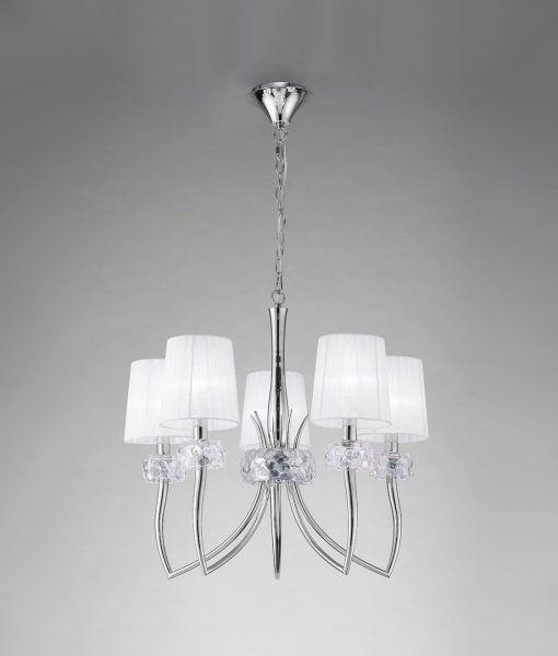 Lámpara cromo 5 luces LOEWE