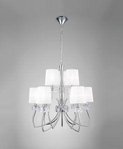 Lámpara cromo 9 luces LOEWE